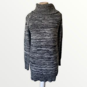 Long sweater gray and beige